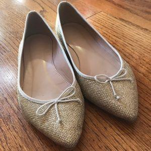 J Crew Gold Ballet Flats 7
